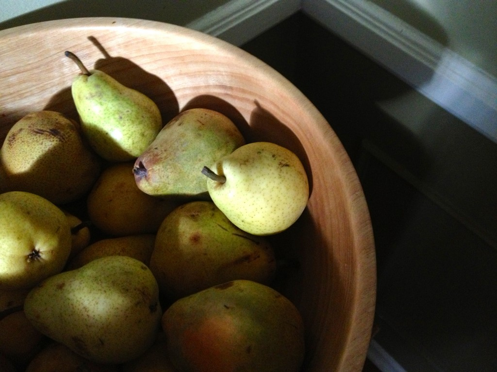 I know, these are pears.